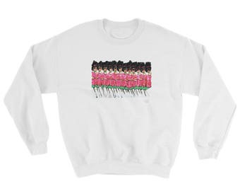 Those Pink and Green Ladies Sweatshirt