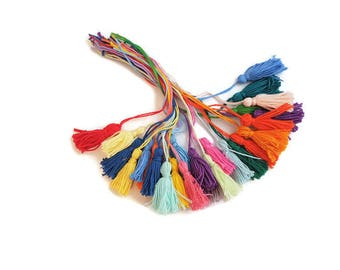 Tassel thread sewing embroidery thread tassels for crafts UK dangle yarn cotton charm floss handmade charm
