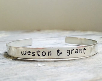 Personalized Sterling Bracelet with interior stamp