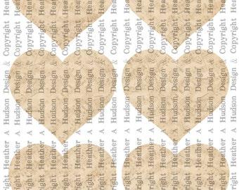 Dollar download Vintage Shabby Chic cream Large plain heart BasesTags  Digital Collage sheet Printable