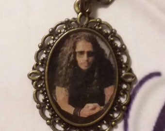 Young Chris Cornell Bronze Pendant Necklace for the fans
