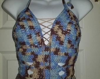 Crochet Halter Top Crochet Swimsuit Crochet Bikini Pink Crochet Top