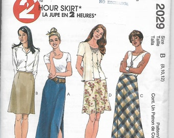 Womens A Line Skirt in two lengths, Size 8, 10, 12, Uncut Pattern, McCall's 2029  2 Hours