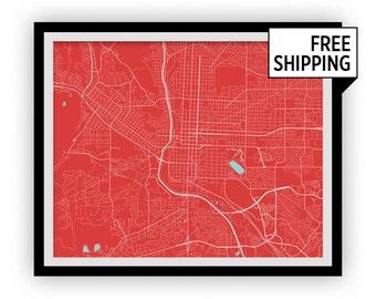 Colorado Springs Map Print - Choose your color