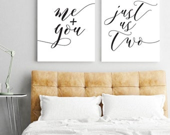 Me Plus You Just Us Two, Wall Art Print Sign, Motivational Wall Decor, Wall Prints Minimalist, Couple Print, Home Wall Decor Rustic