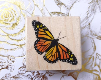 Monarch Butterfly Wood Mounted Rubber Stamp Scrapbooking & Paper Craft Supplies