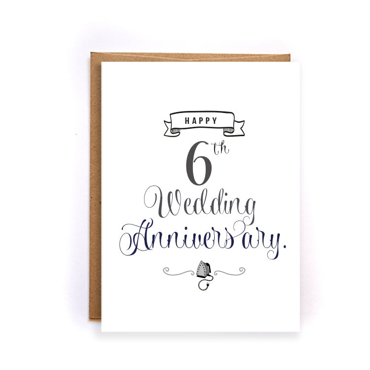6th wedding anniversary wishes to husband from wife