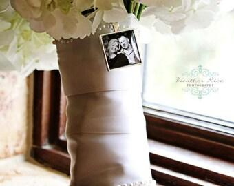 Bridal Charm, Wedding Bouquet Charm, Custom Photo, Memorial Charm, Bridal Jewelry, Sympathy Charm