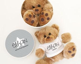 Ring Bearer Gift Ideas for Boys - Ring Bearer Proposal Gift - Ring Bearer Bear - Ring Bearer Thank You Gift (EB3272CT) Custom Teddy Bear
