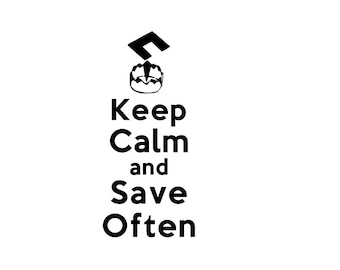 Final Fantasy 07 Save Point Keep Calm and Save Often keep calm and carry on Vinyl Decal ***PLEASE READ***