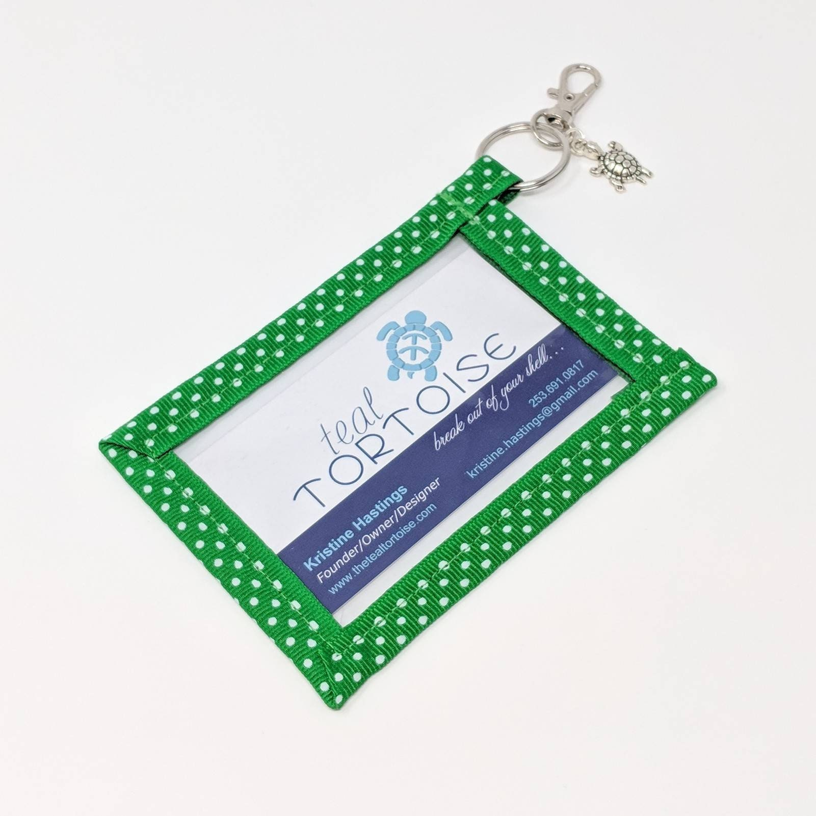 Keyring Business Card Holder - Standard size - Business Card Case ...
