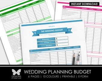 Printable Wedding Budget, Printable Wedding Planning Budget, Wedding Budget, Budget, Wedding, Wedding Planning