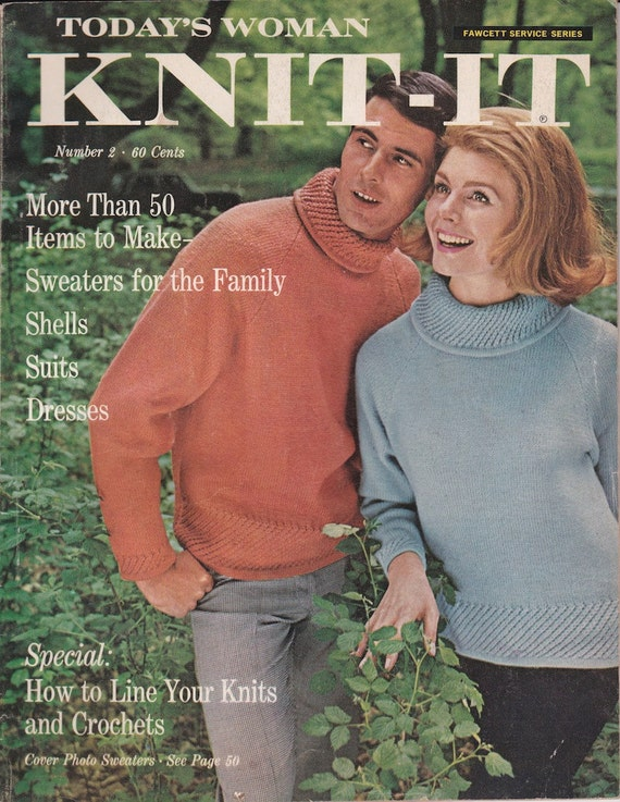 Today's Woman Knit-It Number 2 + 1966 + Vintage Knitting Patterns
