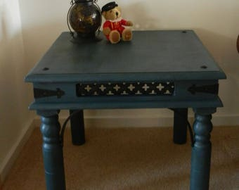Rustic Shabby Chic Hand Painted Occasional Coffee Table