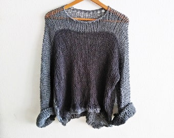 Sexy sweater, soft sweater, boho sweater  color gray