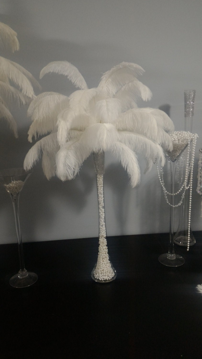 Ostrich feather centerpiece with pearls inside eiffel tower zoom reviewsmspy