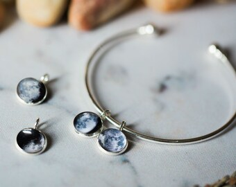 Birth Moon Charm Only - For Charm Bracelet, Add Your Own Chain - Astronomy Jewelry