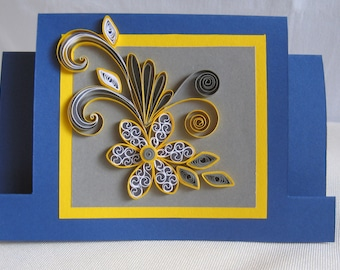 Mothers Day Card Mum Birthday Card Handmade Quilling Card
