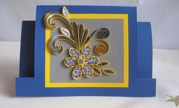 Quilled birthday card handmade quilling card quilling quilled birthday card handmade quilling card quilling flower design greeting card for girl wife grandma nanny sister mum bookmarktalkfo Image collections
