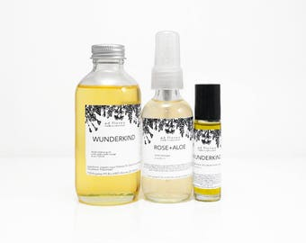 Travel Kit: MATURING SKIN - skincare set, routine, natural facial care products, anti aging face oil, anti aging skincare gift set