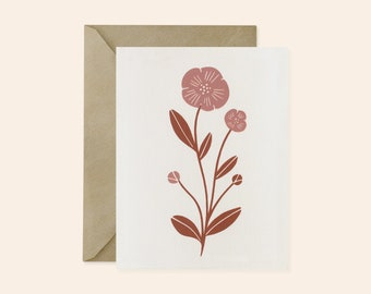 Floral Card Set - Screen Printed Cards