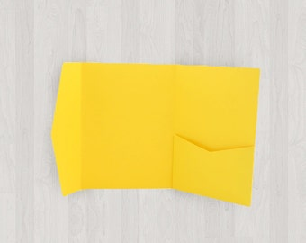 10 Mini Pocket Enclosures - Yellow - DIY Invitations - Invitation Enclosures for Weddings and Other Events