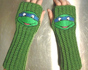 TMNT Arm warmers / Fingerless gloves / Wrist warmers handmade