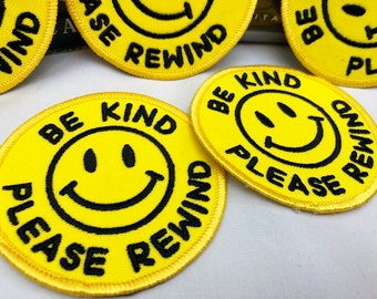 Be Kind Please Rewind patch VHS Blockbuster video rental
