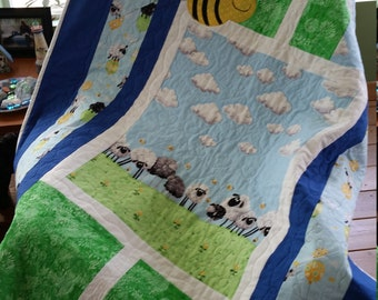 Baby Quilt, Nursery Quilt, Quiltsy First Annual Baby Quilt Challenge, Quiltsy Lewe the Ewe Challenge, World of Susybee