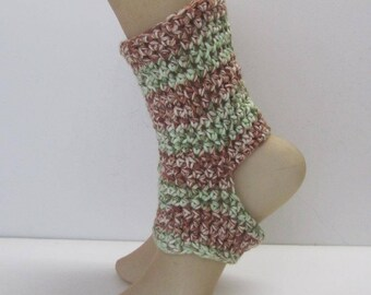 Yoga Dance Pedicure Pilates Toeless Crochet Socks Ready to Ship