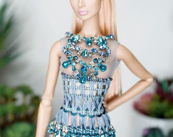 Dress for fashion royalty , poppy parker , barbie silkstone , fashion doll 12 , fashion doll 16 same size
