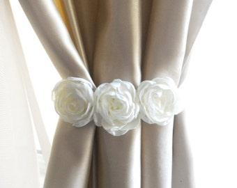 Flower Curtain Tie Back,Set of 2 pcs,Curtain tie backs,Flower Embellishments,Home Decor,Flower Curtain Tie Backs,Baby Nursery Decor