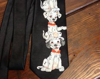 101 Dalmatians Necktie, Disney necktie, Vacation necktie, Costume necktie, Dog necktie