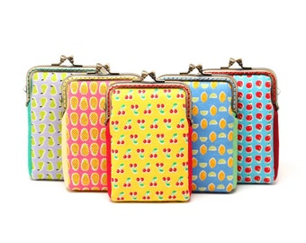 Package deal, set of Five (5) fruity holidays mini card holder wallets