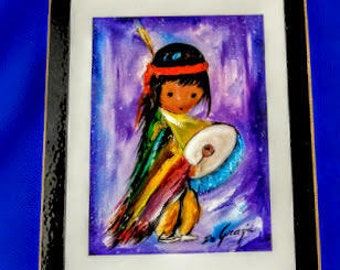 Pima Indian Drummer by Ted DeGrazia
