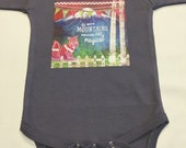 Gender Neutral Mountains Onesie - Baby Shower Gift