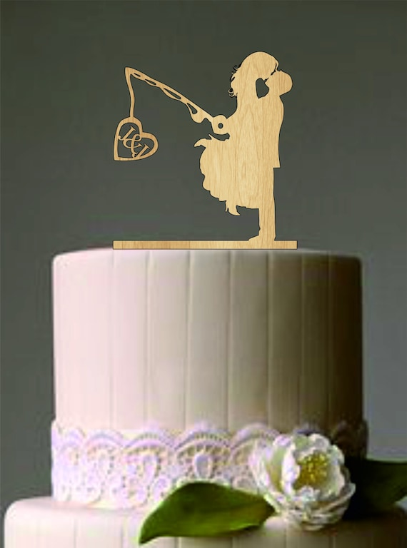 custom wedding cake toppers etsy unique wedding cake topper wedding fishing pole 13253