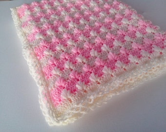 Crochet Baby Blanket  PATTERN/ puffy Aloe stitch/ Tutorial Instant Download / PATTERN 141/ Permission to sell finished items.