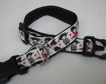 Halloween Trick or Treaters Dog Collar - MULTIPLE SIZES AVAILABLE