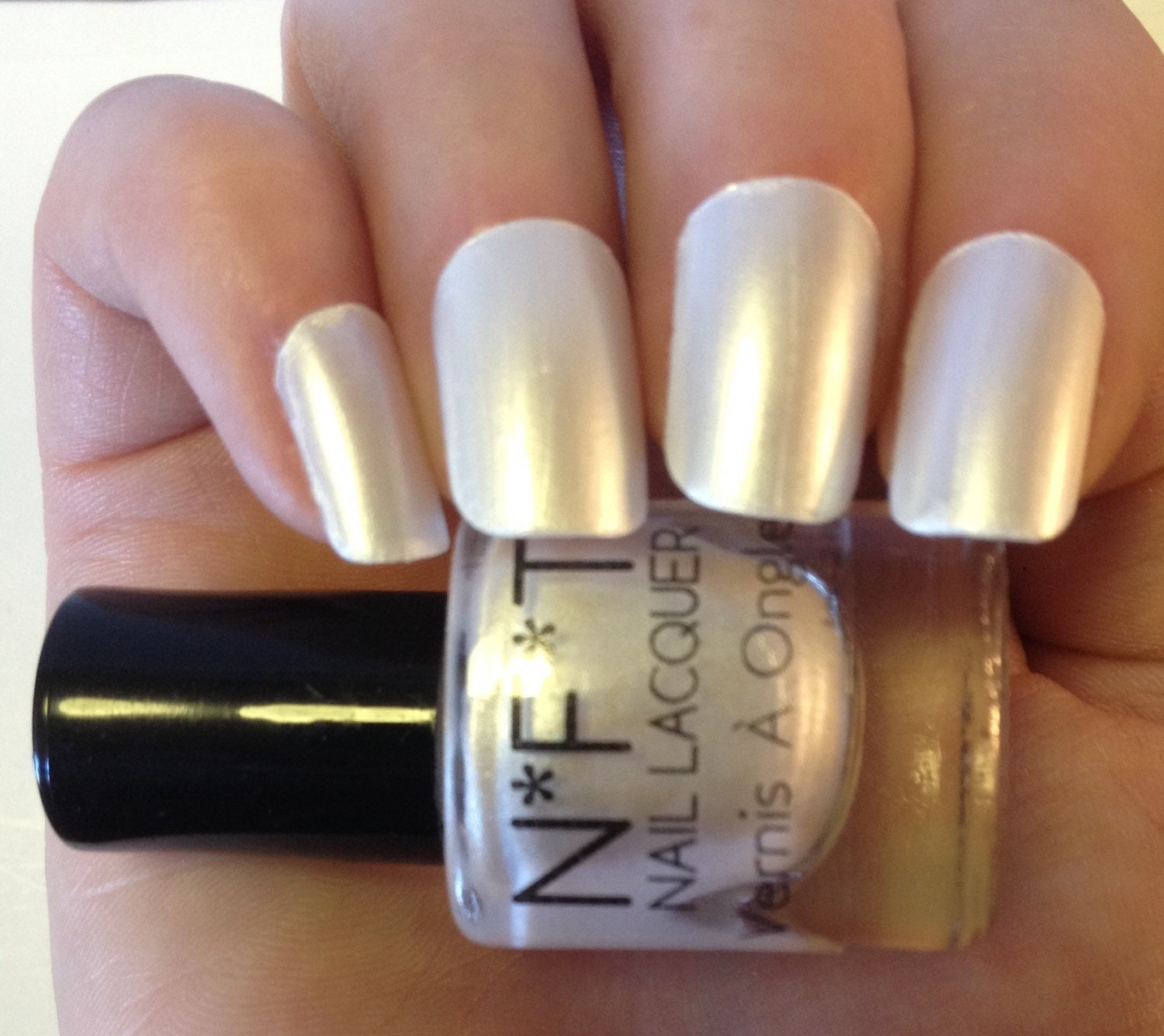 N15 Pearly Pearl White Nail Polish / Indie Lacquer