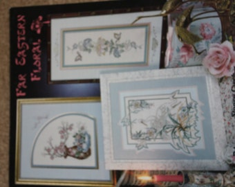 "Stoney Creek, ""Far Eastern Floral"" Cross Stitch Pattern Leaflet"