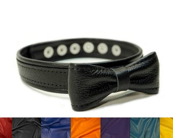 Padded Bow Tie Button Snap by Deviant Leather