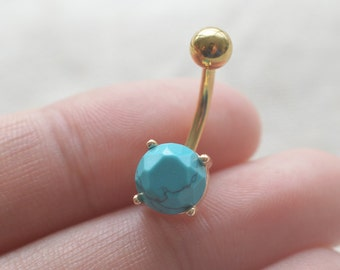 turquoise belly button rings belly ring Rocker belly button jewelry,navel ring,bff gift