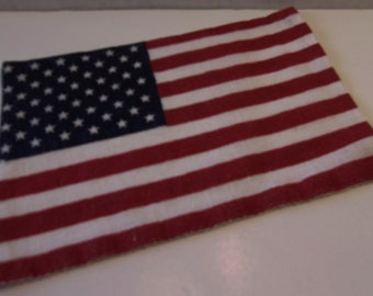 Vintage Small Cloth American Flag Patriotic Fourth of July