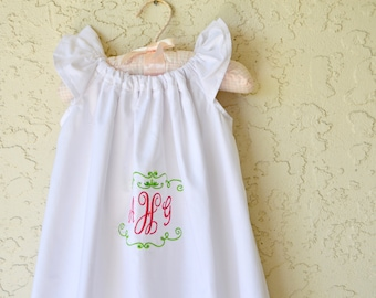 Baptism Christening gown dress with flutter sleeves white special occasion infant dress.