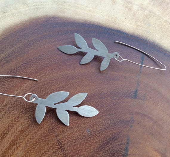 Sterling Silver Silhouette Branch Earrings