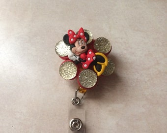 Sassy Minnie Mouse Badge Reel