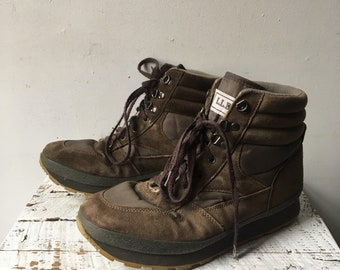 80s 90s ll bean insulated hiking boots mens sz 10 wide