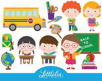 Back to school - Student clipart - 14034 Instant download