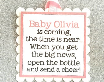 Baby Shower wine bottle tags / baby shower wine bottle favor tags / baby shower wine tags / baby shower wine labels